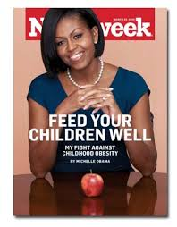 First Lady Michelle Obama on the cover of Newsweek magazine