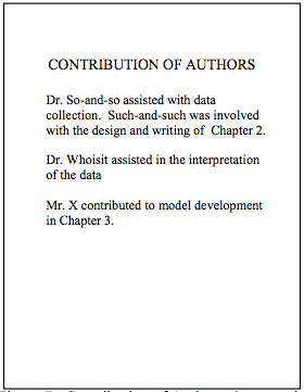Figure 7. Contribution of Authors (manuscript format only)