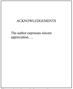 How to write a good acknowledgement for a dissertation