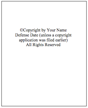 Figure 3. Optional Copyright Page.