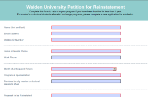 screenshot of petition for reinstatement