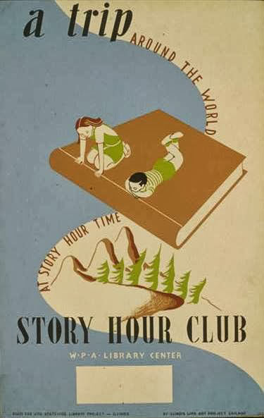 1930s WPA story hour poster
