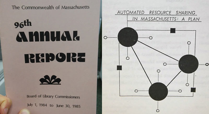 Cover & graphic from 96th Annual Report (FY 1985)