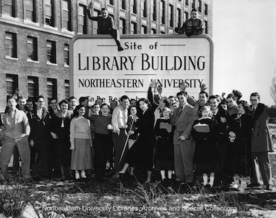 Northeastern University Dodge Library groundbreaking, 1950