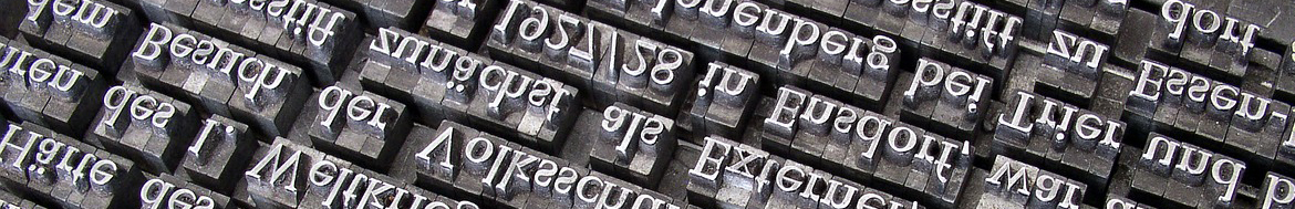 Typesetting blocks and letters
