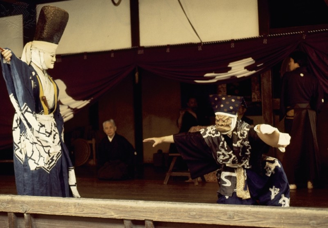 A scene from a Kyogen play, a light form of drama associated with Noh - Britannica ImageQuest