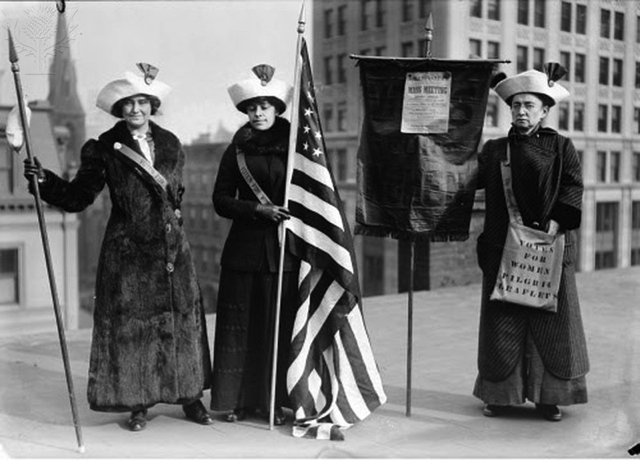 Suffragettes in Brooklyn, 1910, Britannica ImageQuest