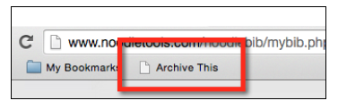 """Archive This"" button in the browser bar"