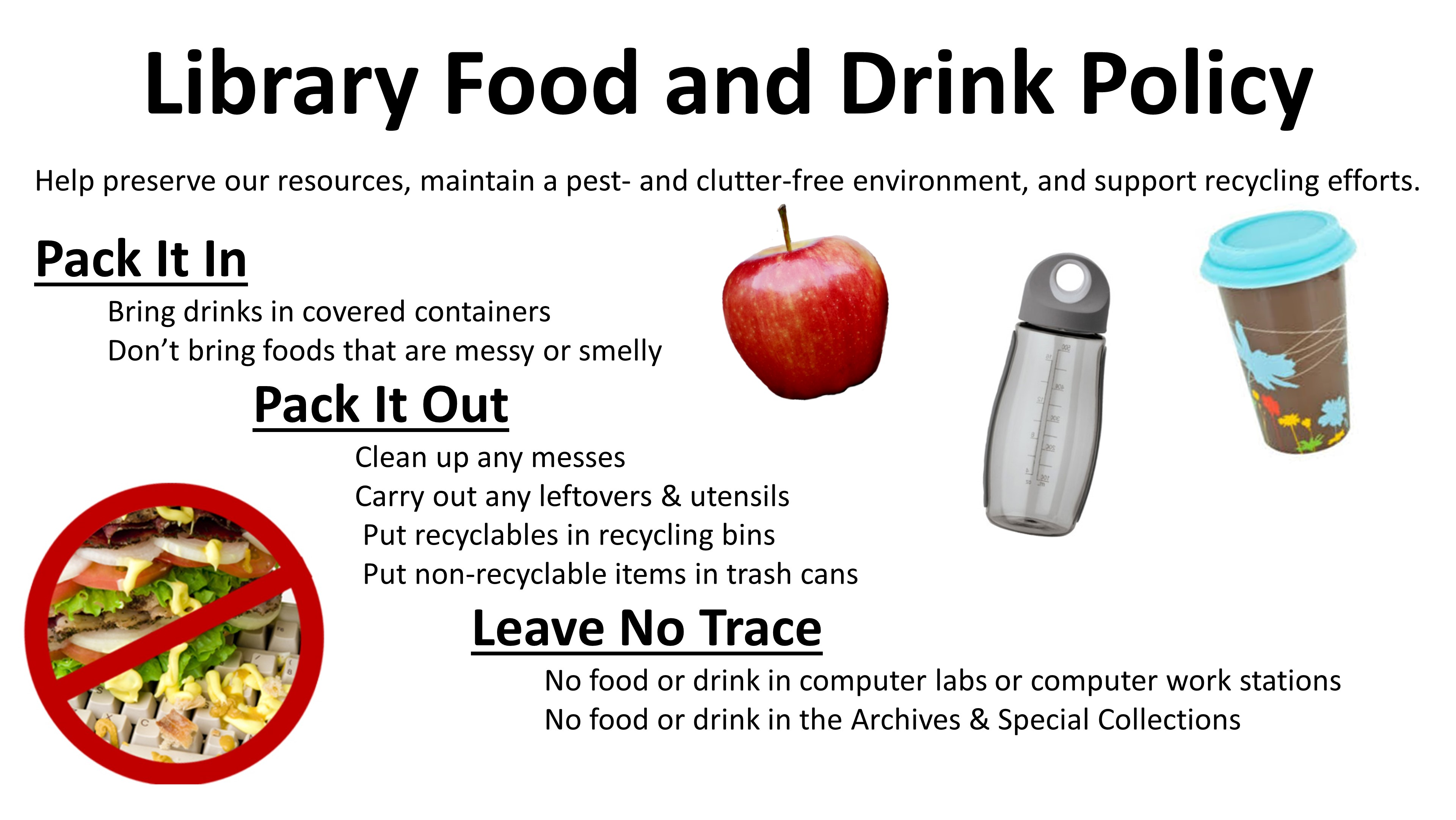 food and drink - earlham libraries policies - earlham libraries home