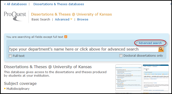 list of theses and dissertations