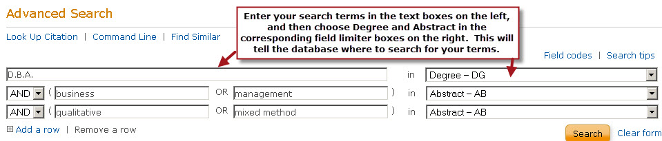 all dissertations search