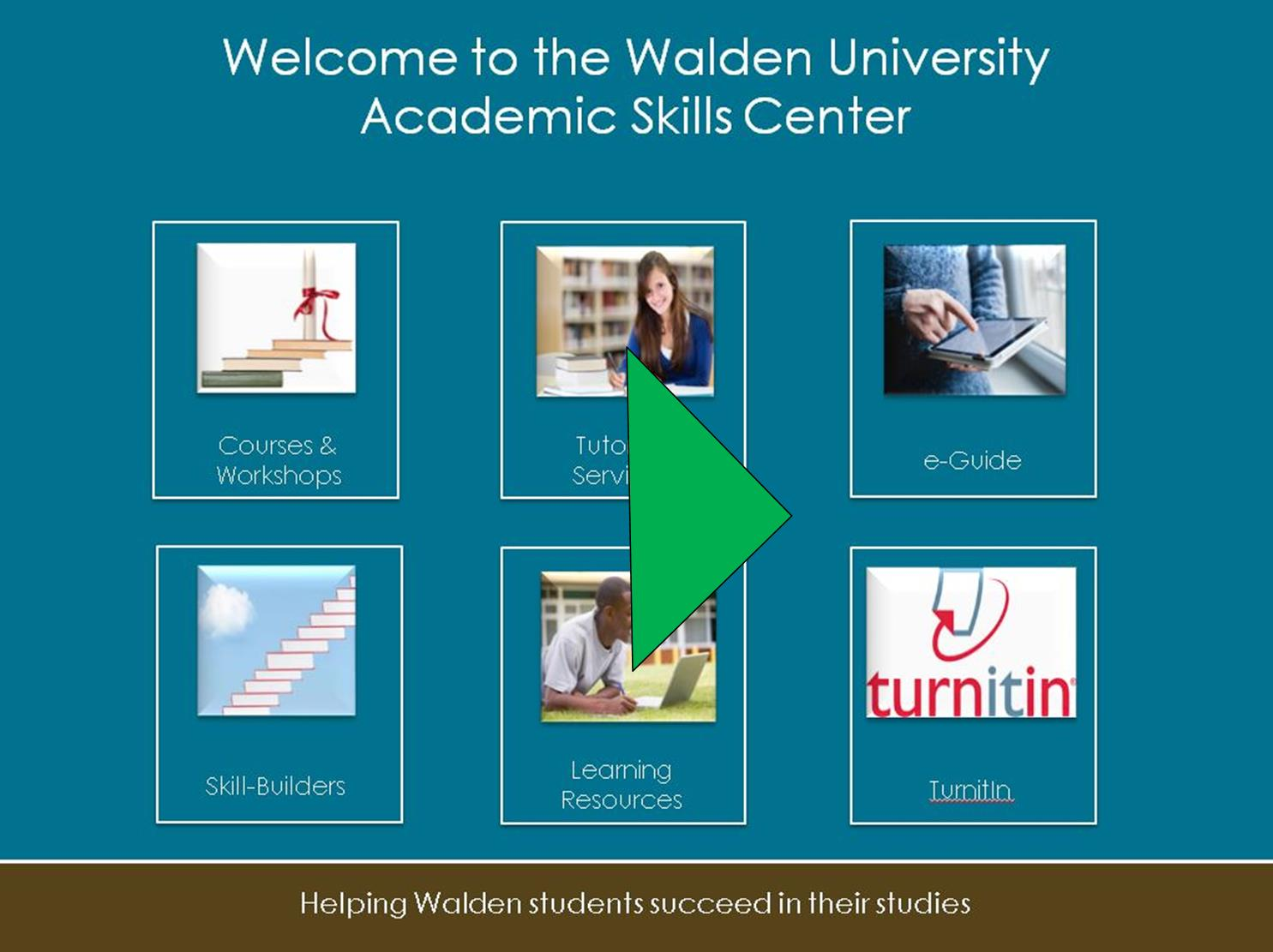 Link to Academic Skills Center's welcome video
