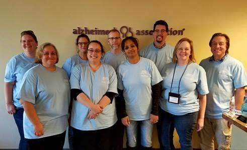 Dena volunteering at the Alzheimer's Association