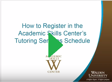 Click the image below for a brief tutorial on how to register in the ASC's Tutoring Services schedule