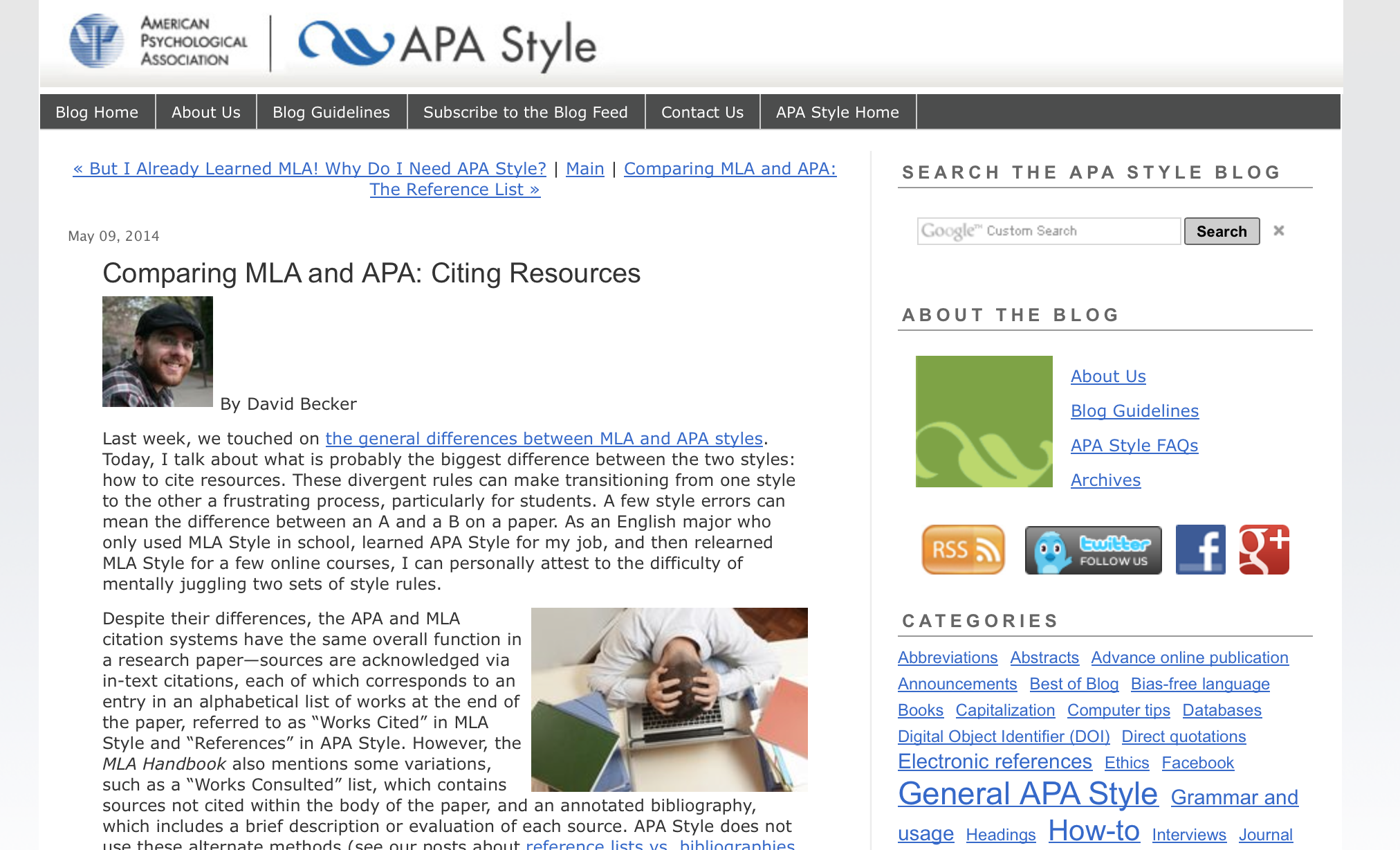 apa style source Here's a guide for referencing electronic sources in apa format find examples of apa format for online journal, online documents, and more.