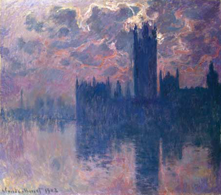 Monet, Houses of parliament, sunset, 1902