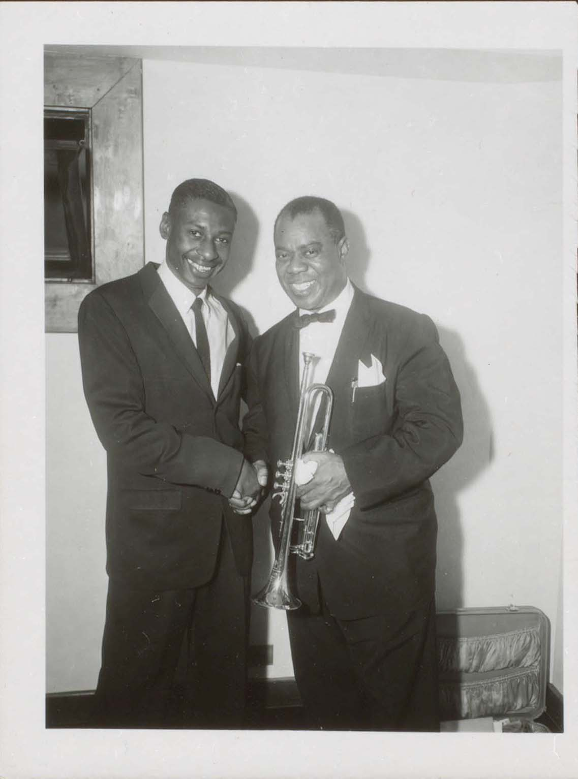 Jimmy Baynes and Louis Armstrong in Cleveland