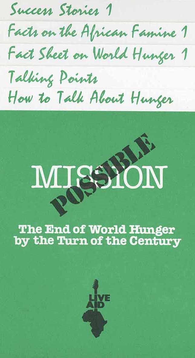 Mission Possible: The end of world hunger by the turn of the century