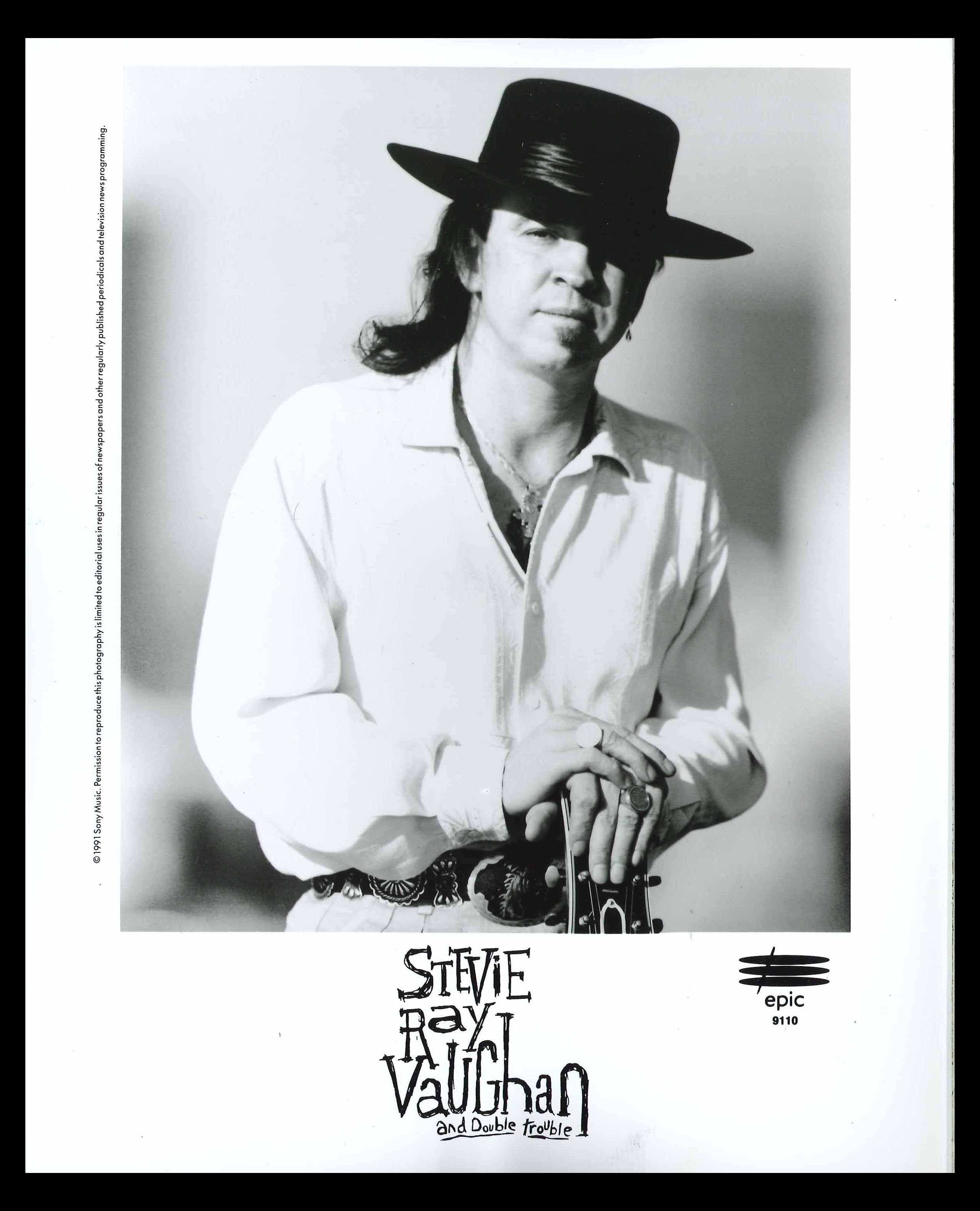 Stevie Ray Vaughn publicity photo