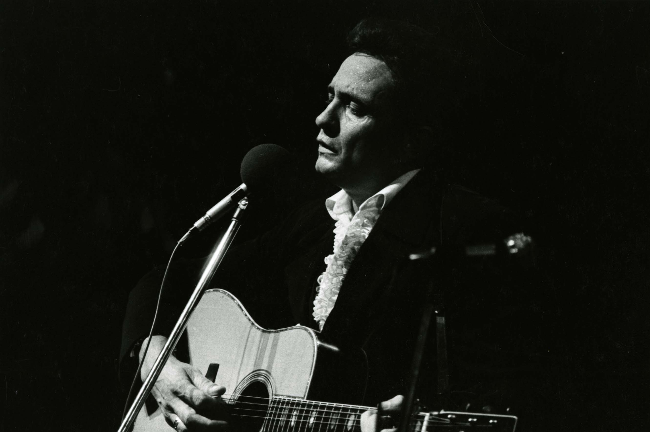 Johnny Cash performance photograph