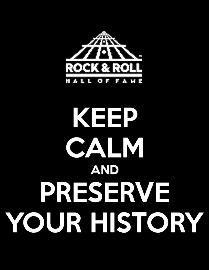 Keep calm and preserve your history