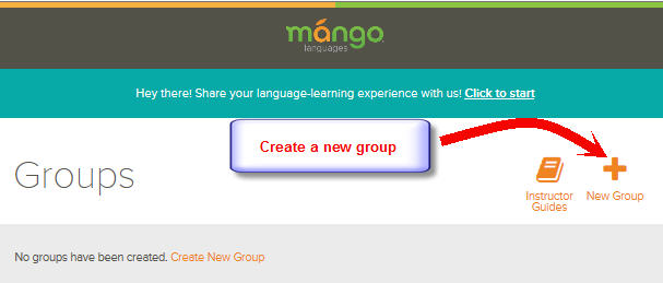 Mango Languages - Create a Group