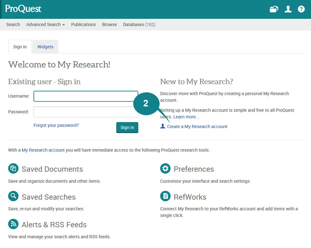 Proquest central database
