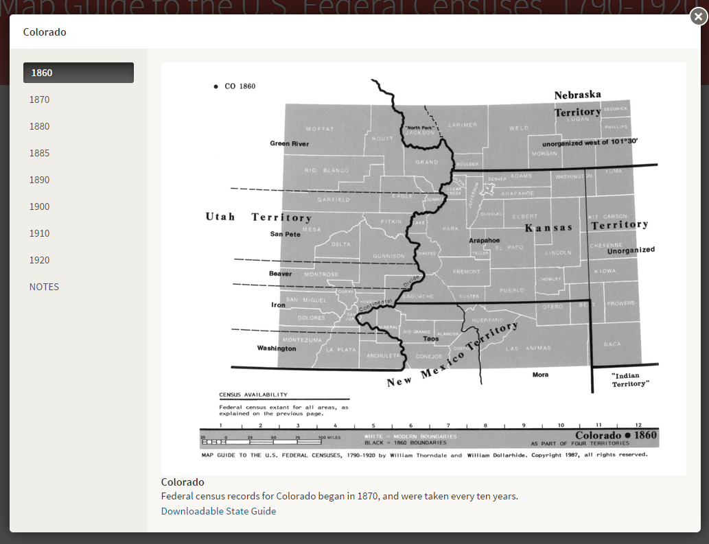 Maps HeritageQuest Online LibGuides At ProQuest - Map guide to the us federal censuses 1790 1920