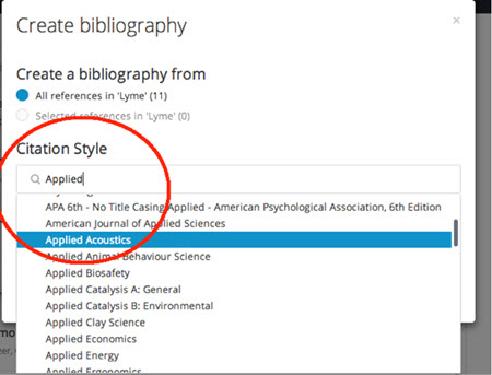 Begin the bibliography
