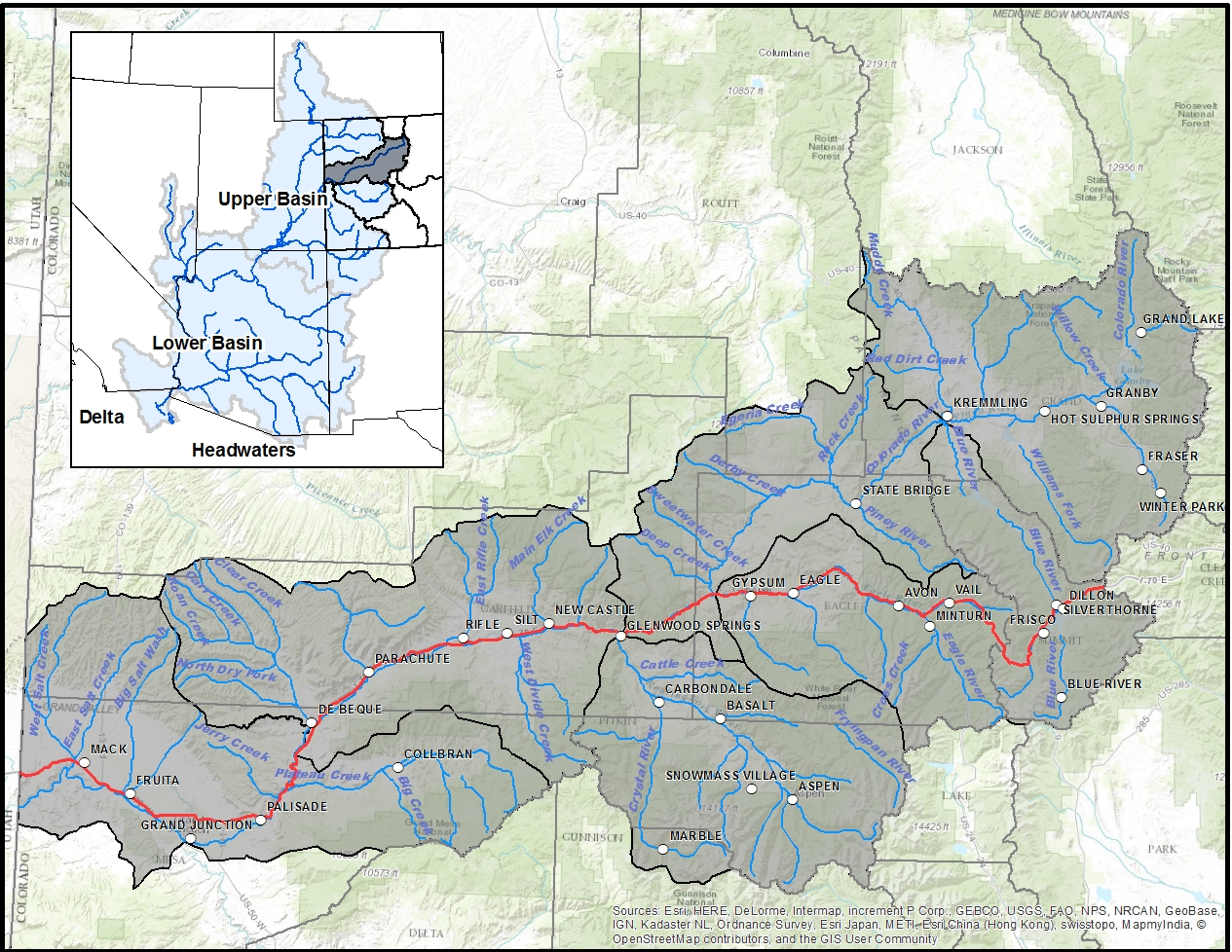 Colorado River Headwaters Map