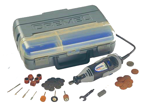 Dremel rotary tool set with motor and bits