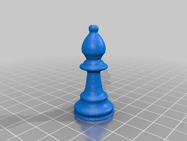 Bishop chess piece: 3D scan