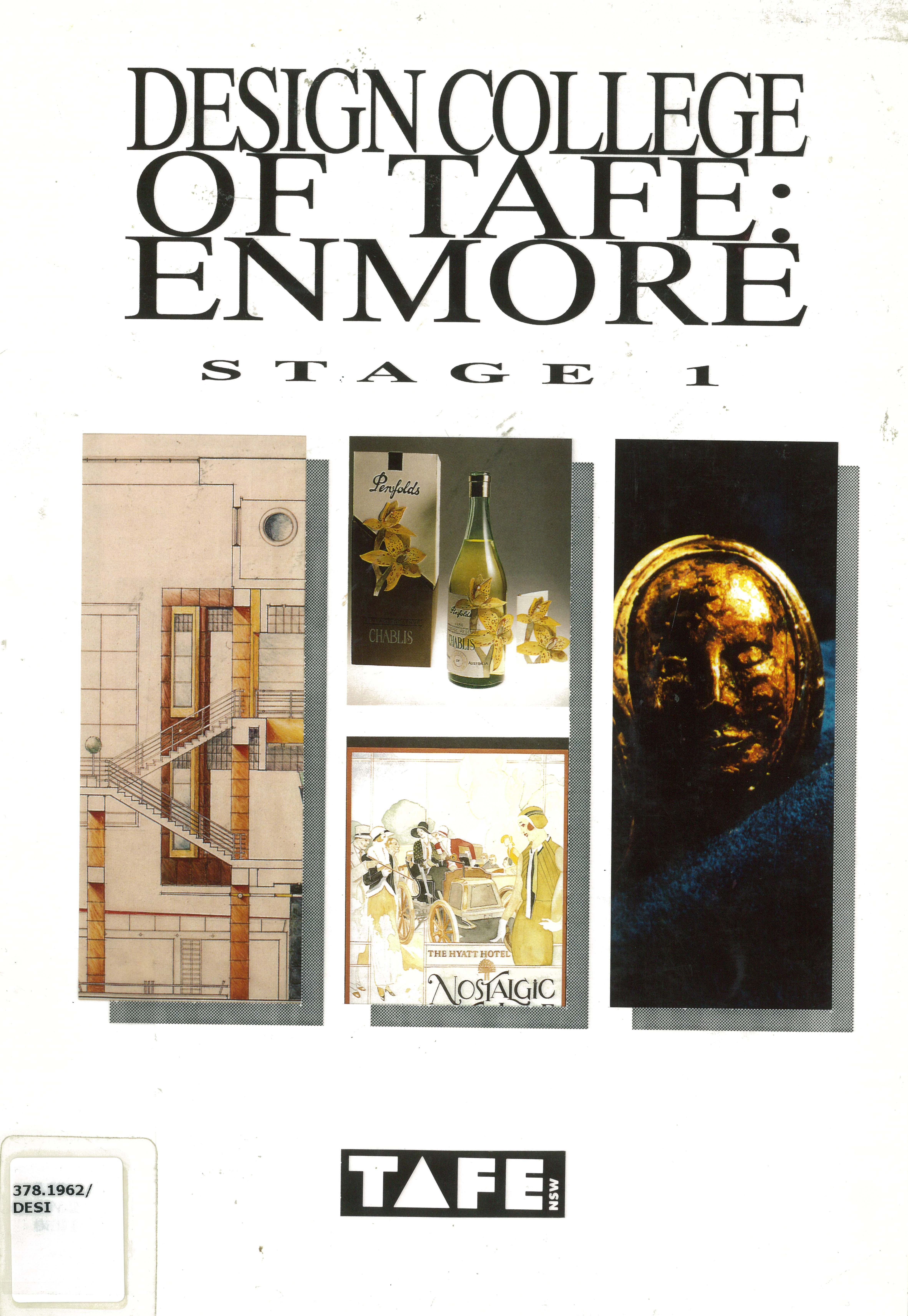 Design College Of TAFE Enmore Stage 1 Graphic Interior Jewellery And Manufacture