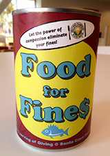 Food for Fines can photo