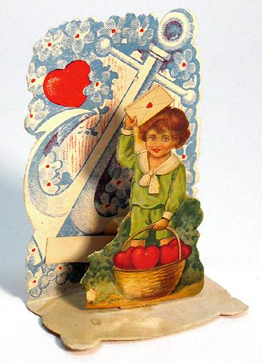 "A pop-up Valentine, circa 1920, measuring 2"" x 2 1/2"". From Wikimedia Commons."