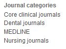 Screenshot Journal categories