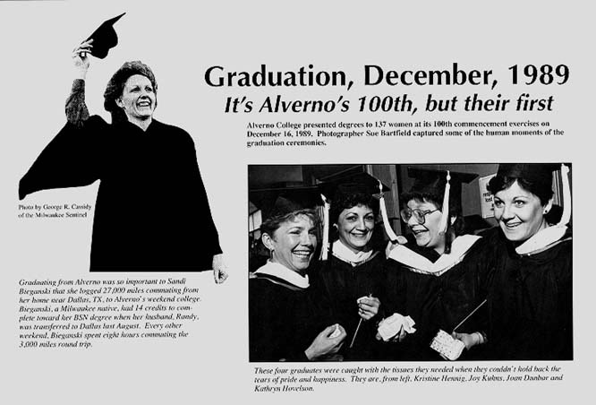 "Alvernop's 100th Graduation ceremon recognized in February 1990 issue of  ""Alverno Today"""