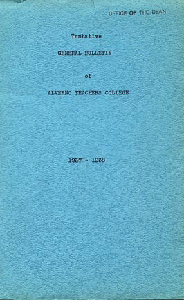 Cover of First College Bulletin from 1937