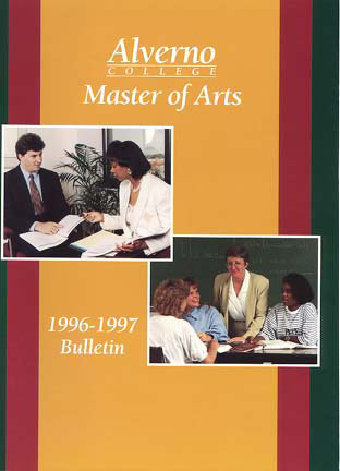 First Master of Arts Bulletin cover