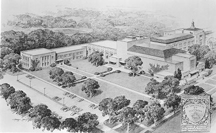 Architect's rendering of Alphonsa Hall