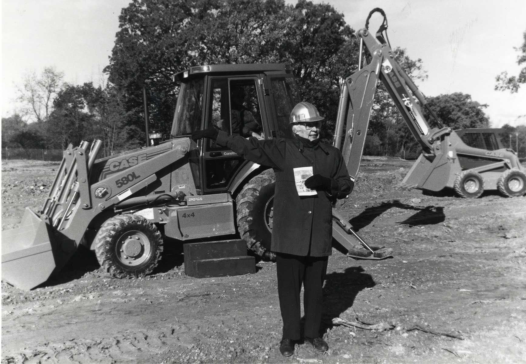 Sister Joel Read at the 1997 groundbreaking for the Teaching, Learning & Technology Center
