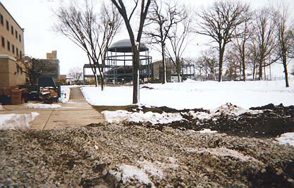 Teaching, Learning & Technology Center under construction in January 1998