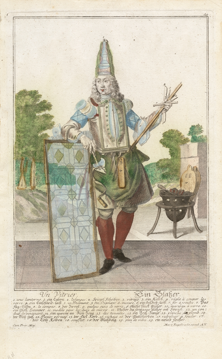 Un vitrier / Ein Glaser, Augsburg, Germany : [s. n.], 1730. (CMGL 129851)
