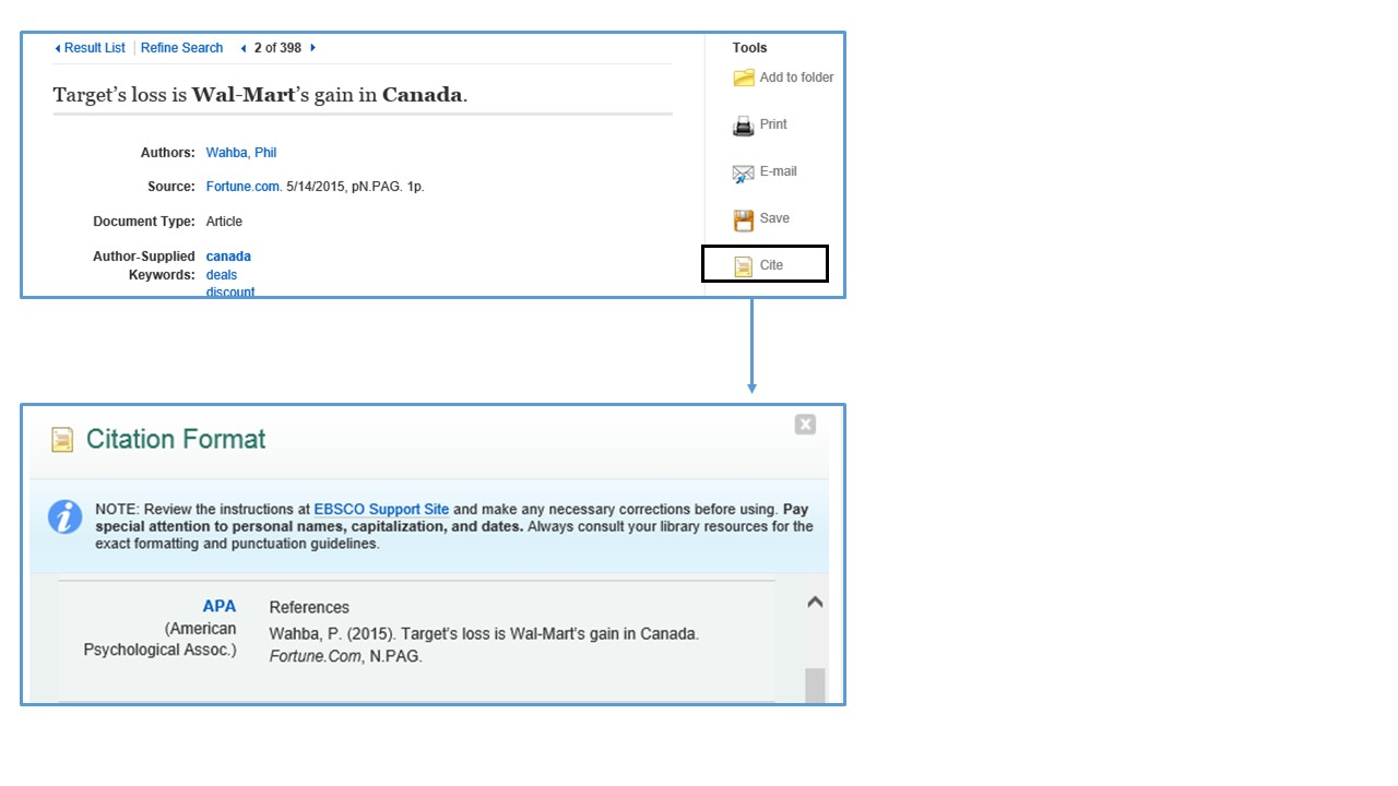 Apa Style Intext The Cite Tool (illustrated Below) Will Automatically  Generate A Citation According