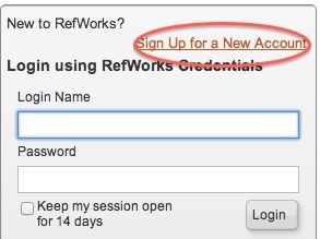 RefWorks Sign Up