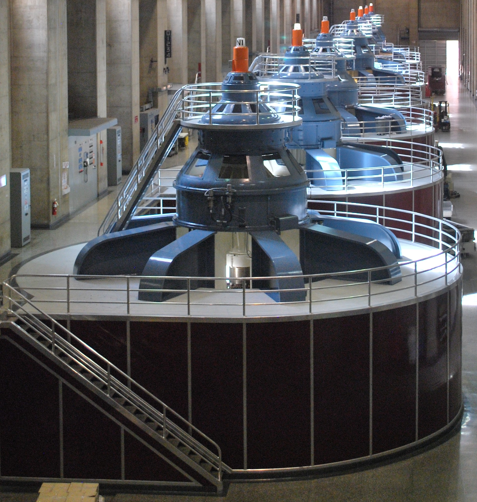 photo of electrical turbines at Hoover Dam power plant
