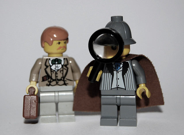 "CC - ""Minifig Characters #5: Sherlock Holmes and Dr. Watson""  thom (https://www.flickr.com/photos/minifig/3174009125/in/photolist-67MPUw-ch8d9-8PCJ8C-hH54JL-4UokrH-4hSsNV-3jpB8-5v4s9j-4zPuta-4gfNhz-5QtCkg-6b7dU6-en62JV-6B6TBB-7G1x5R-aFTMDF-4NGDYL-9VDM5N-5mtkLS-2EinZ-77Xng2-6ZG49d-989doH-8peEVM-dHr1Ed-8Ch4-5dqCg6-9VATSc-6bbtEA-6bbrLU-A75Mr-4ktZyq-8f3rrF-4kpXpi-AQ33s-6jy3q3-5Z6uvQ-66WjNR-dFMVW9-qzDvGU-buFeJ2-2j8LYW-6pLxY2-5zRG1q-5D8HJm-6yQr5V-7fRqZP-7NLjJ1-ektUTA-2j4nGc)"