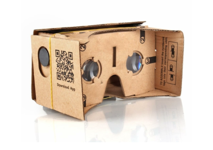 Picture of Google Cardboard virtual reality glasses