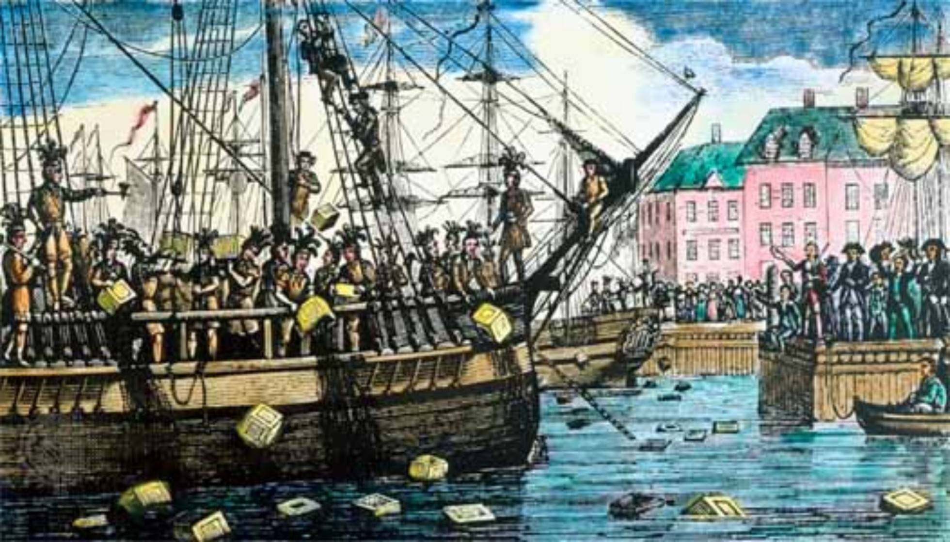 Colonists Boston Tea Party