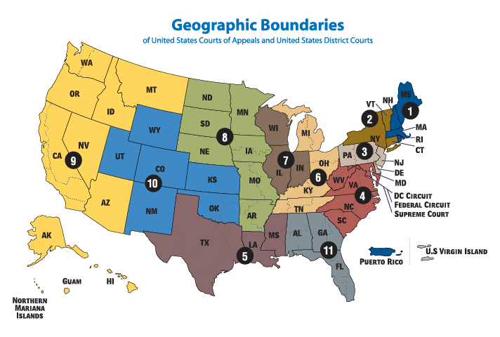 Geographic Boundaries of Circuit Courts